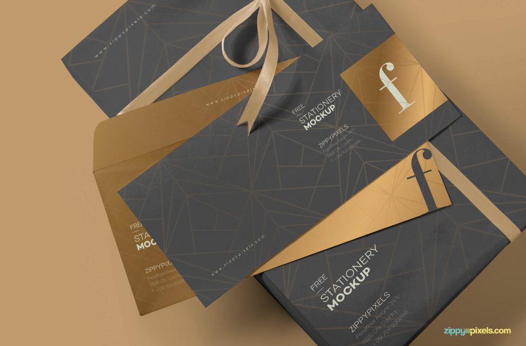 Free Luxury Envelope Mockup PSD Template