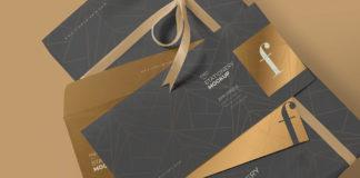 Free Luxury Envelope Mock Up