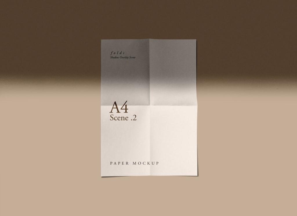 Free Marvelous Fold Paper Mockups PSD Template2