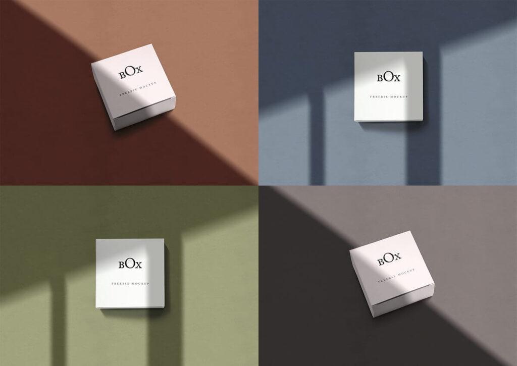 Free Minimalist Square Box Mockups PSD Templates3
