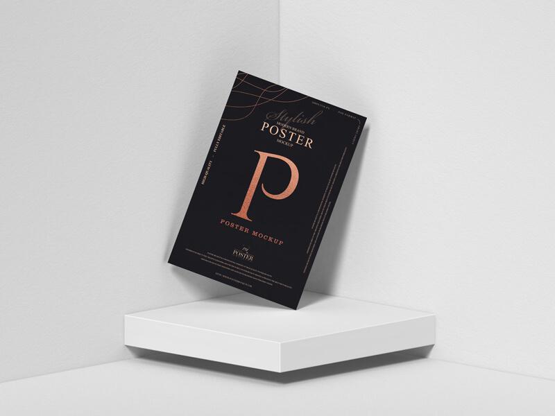 Free-Modern-Brand-Stylish-Poster-Mockup Set