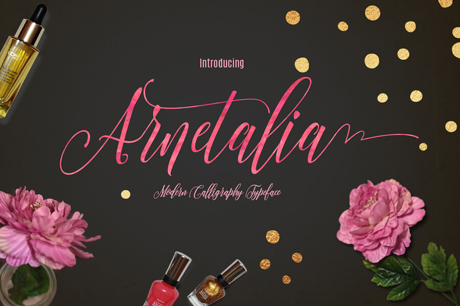 Free Modern Calligraphy Arnetalia Font1