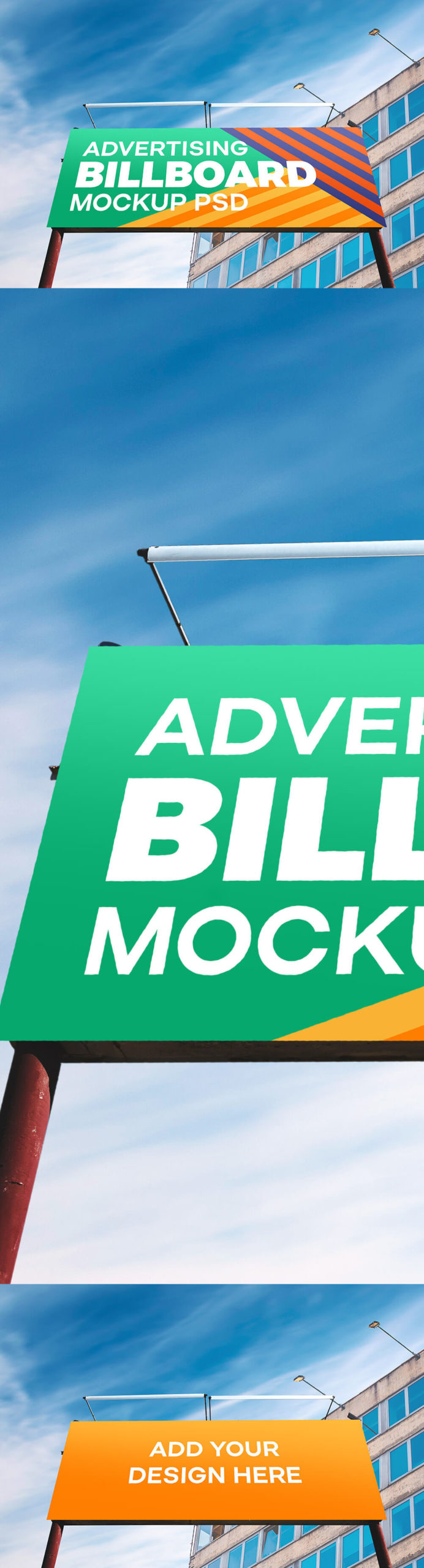 Free Outdoor Advertising Billboard Mockup PSD Template1