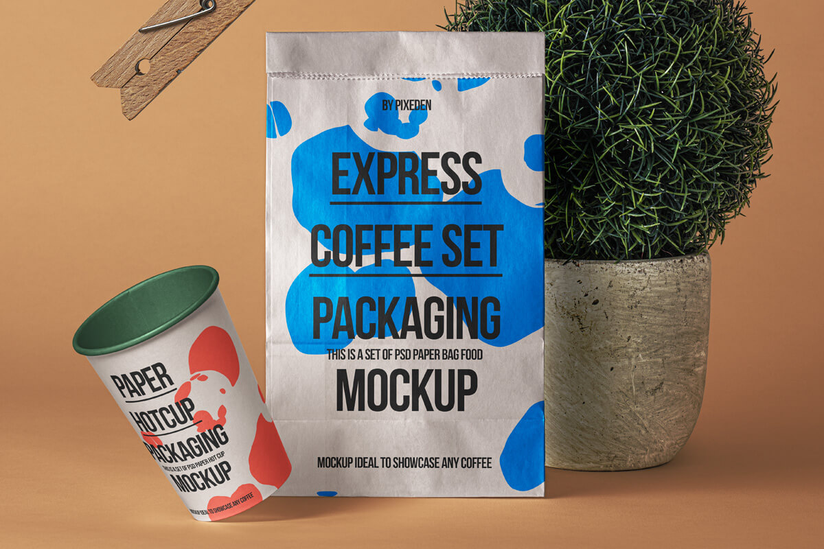 Free Paper Bag Mockup Showcase PSD Template