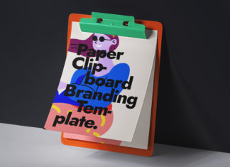 Free Paper Clipboard Mockup PSD Template1