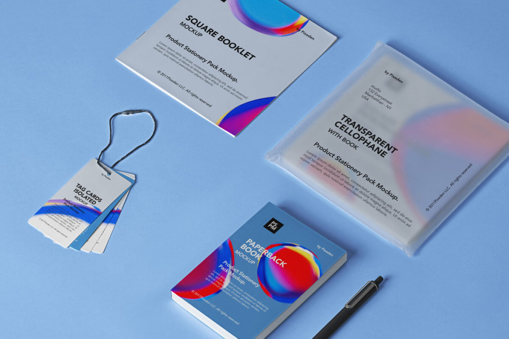 Free Product Stationery Mockup Set PSD Template: