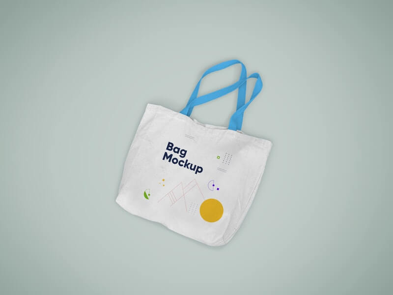 Free Realistic Tote Bag Mockup PSD Template