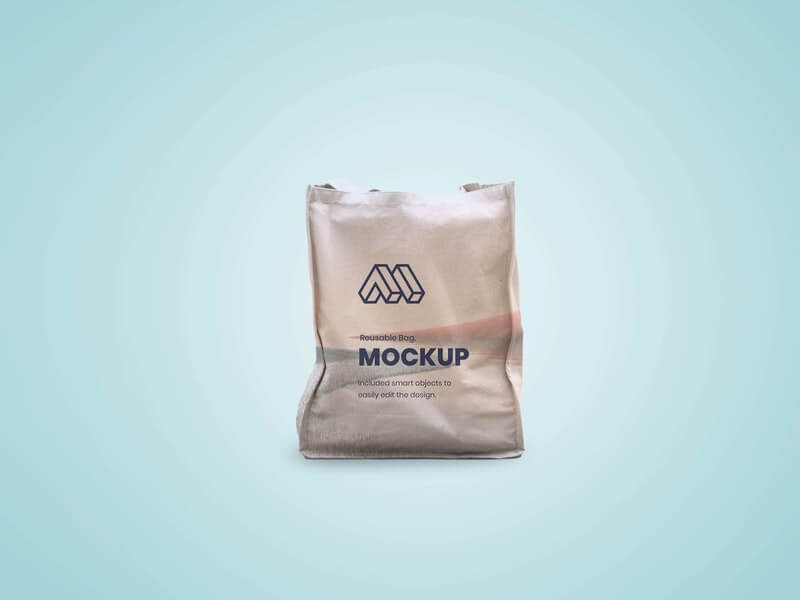 Free Reusable Bag Mockup PSD Template