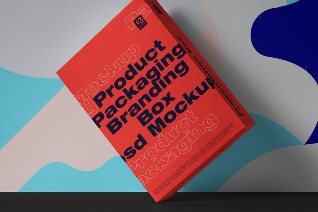 Free Simple Box Packaging Mockup PSD Template1