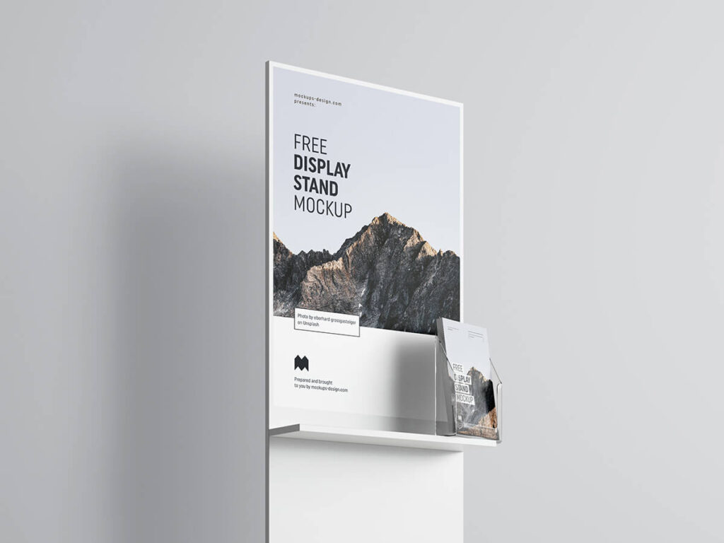 Free Simple Poster Display Mockup PSD Template1