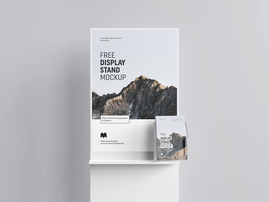 Free Simple Poster Display Mockup PSD Template2