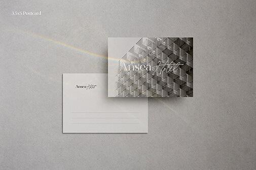 Free Souvenir Postcard Mockup PSD Template2