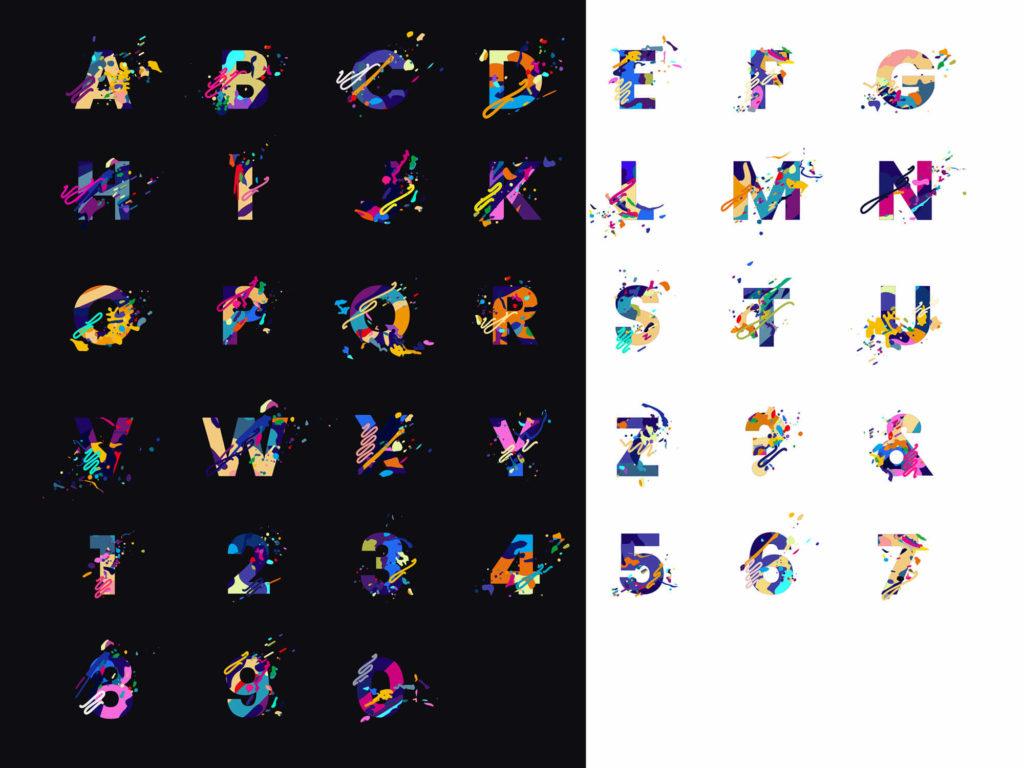 Free Splash Letters Font 2