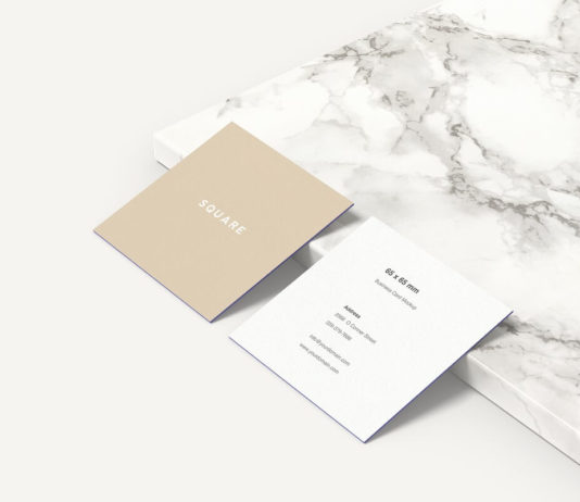 Free Square Business Card Mockup PSD Template1
