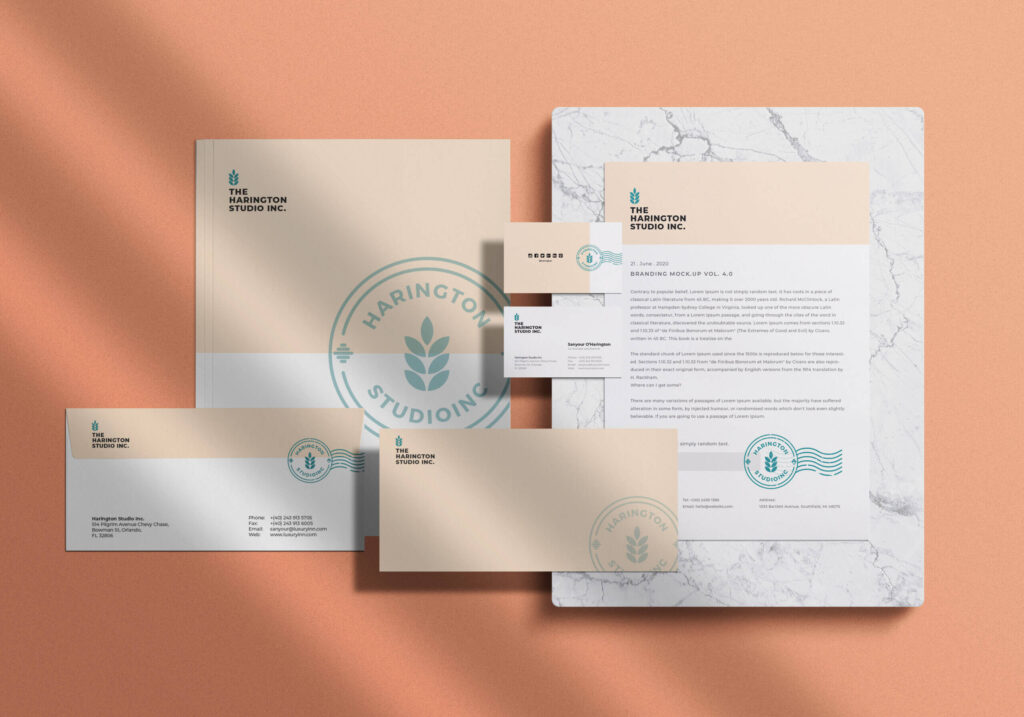 Free Stationery Branding Mockup PSD Template
