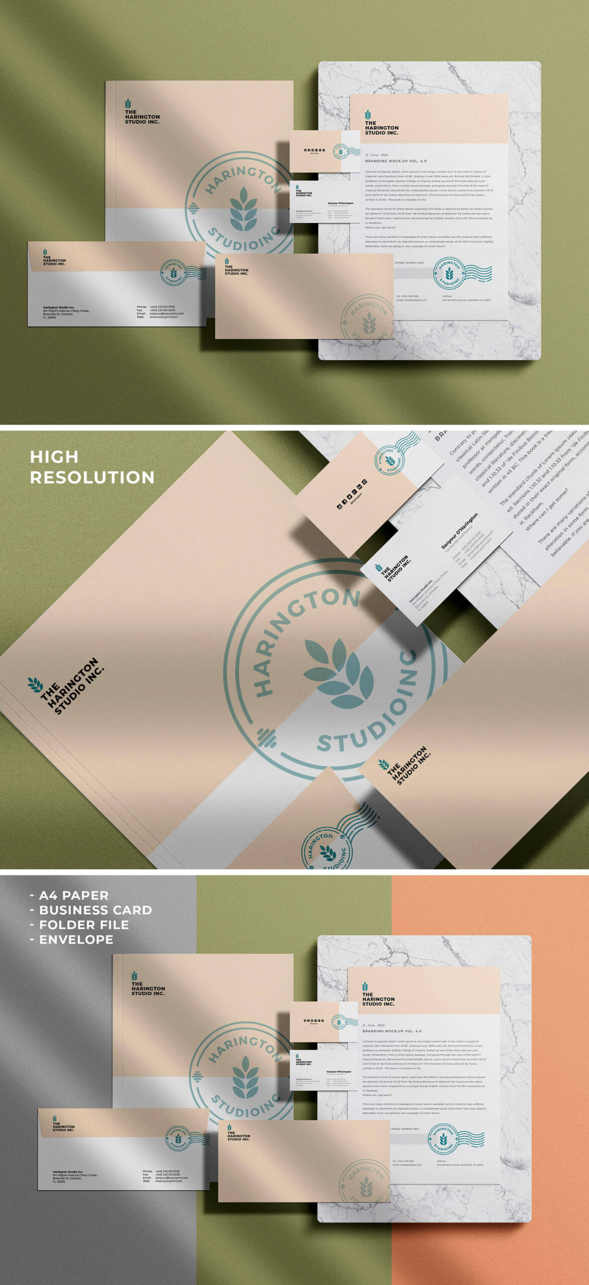 Free Stationery Branding Mockup PSD Template1