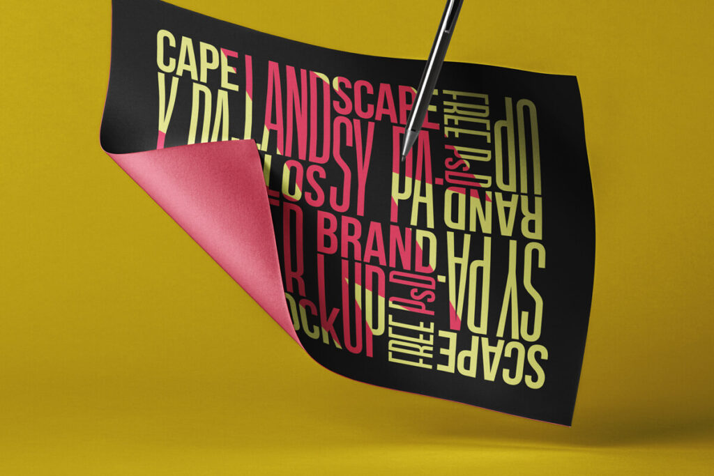 Free Stunning Brand Paper Mockup Landscape PSD Template1