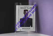 Free Transparent Cover Magazine Mockup PSD Template1