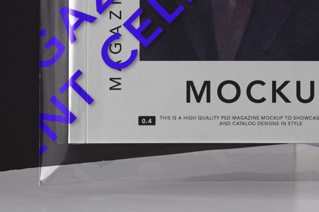 Free Transparent Cover Magazine Mockup PSD Template3