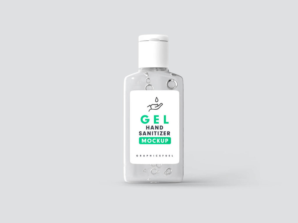 Free Transparent Hand Sanitizer Bottle Mockup PSD Template1