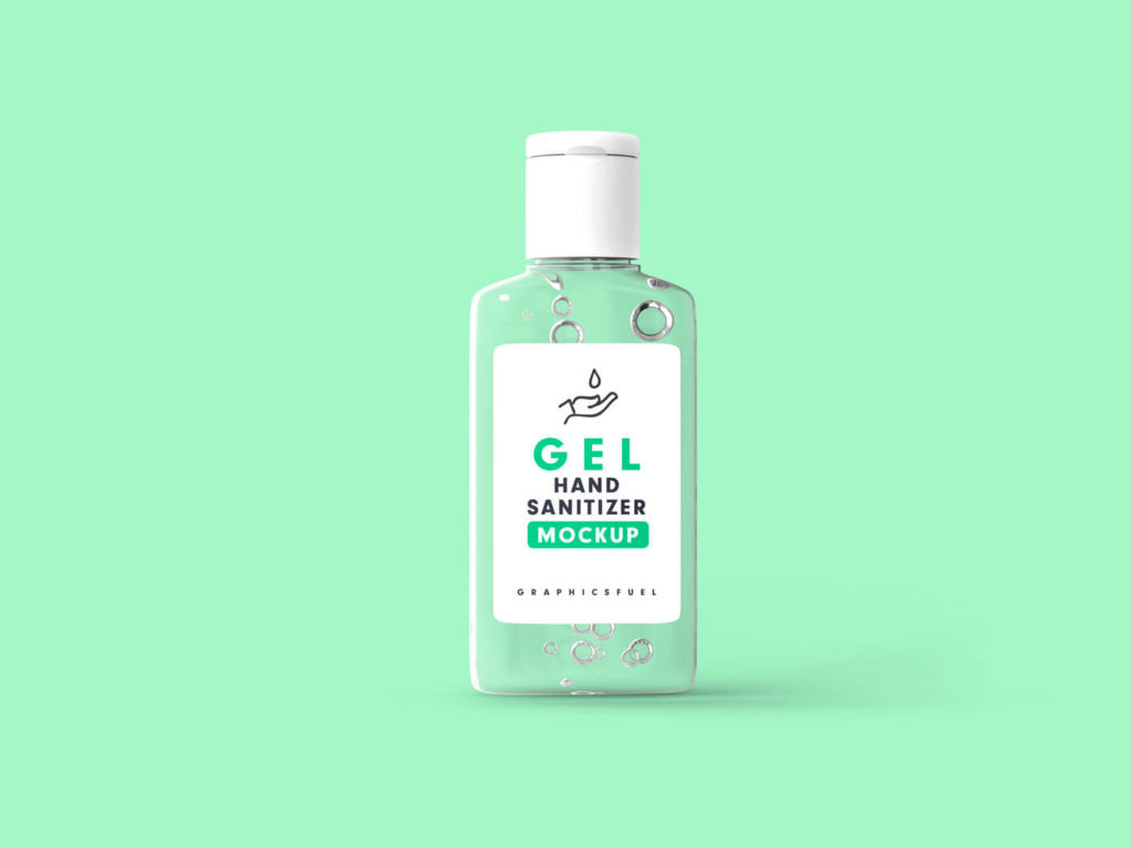 Free Transparent Hand Sanitizer Bottle Mockup PSD Template2