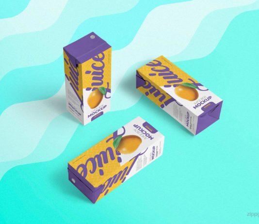 Free Unique Juice Box Mockup PSD Template1