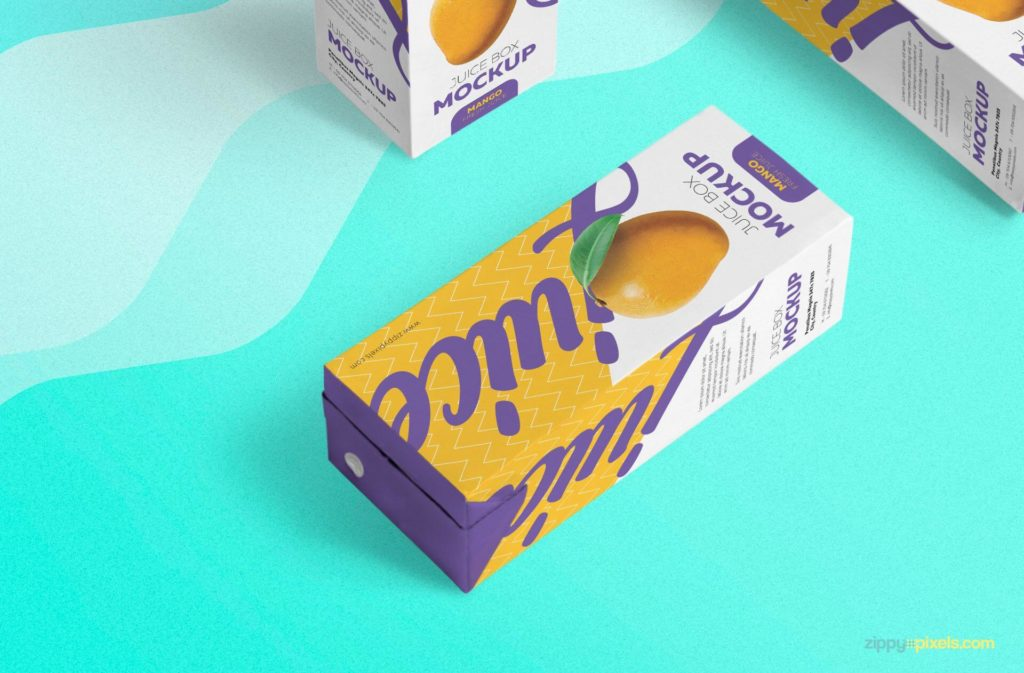 Free Unique Juice Box Mockup PSD Template5