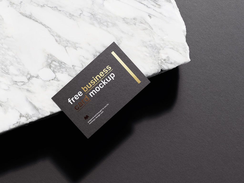Free Elegant business cards mockup PSD Template