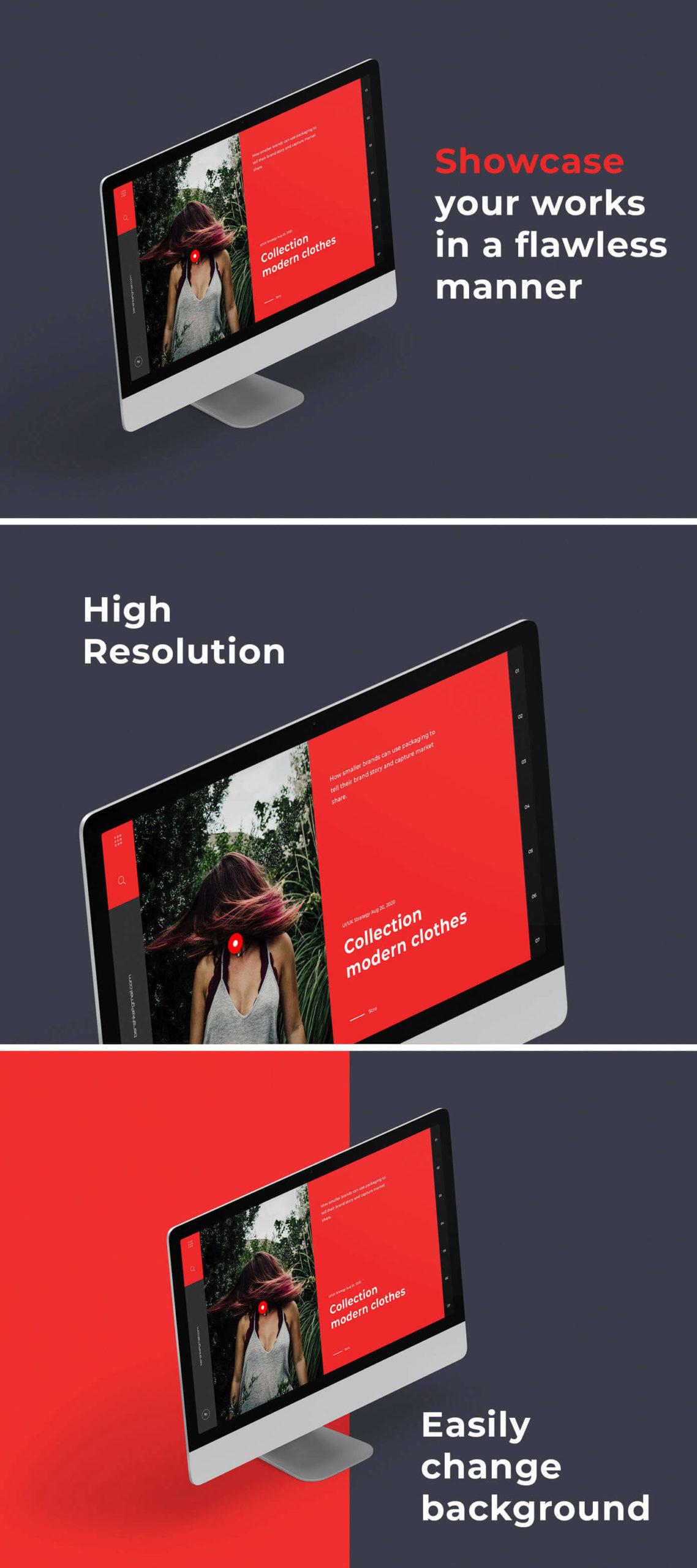Free iMac Perspective Mockup PSD Template2