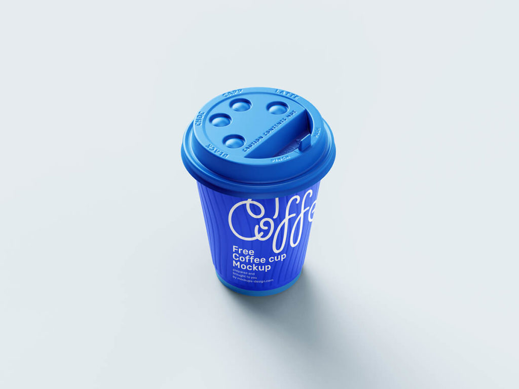 Free paper coffee cup mockup
