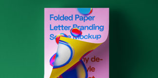 Free paper-folded-letter-branding-stationery-print-graphic-psd-mockup