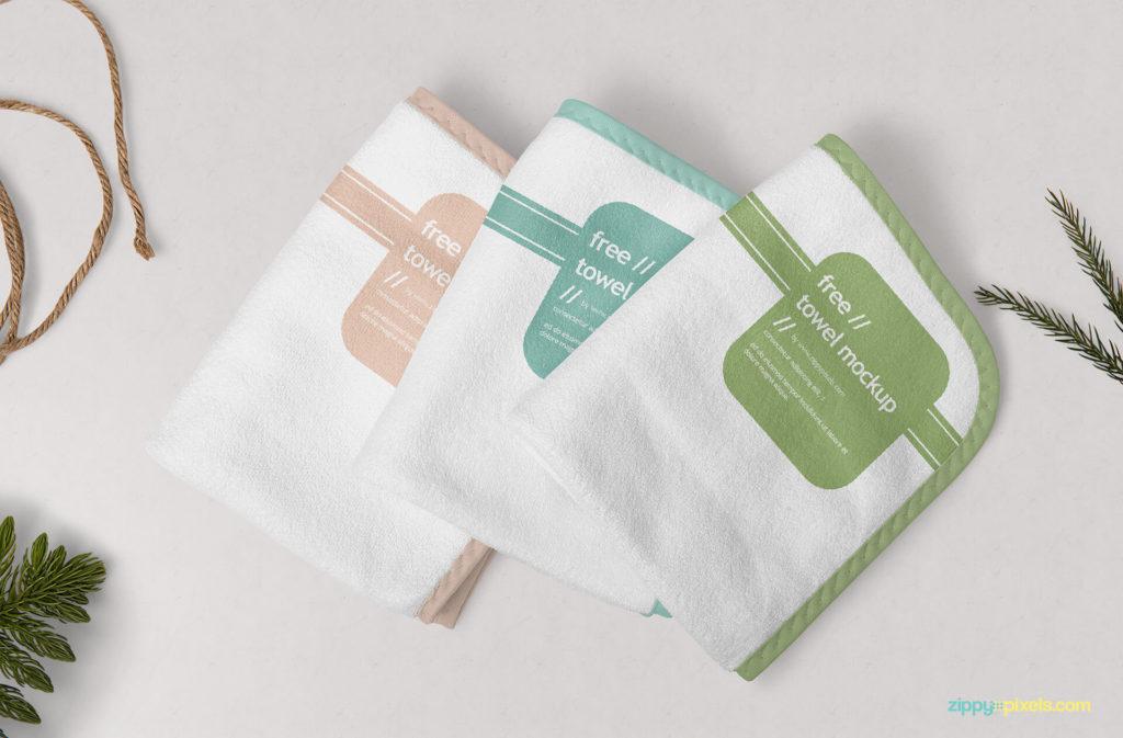 Free-towel-mockup-set