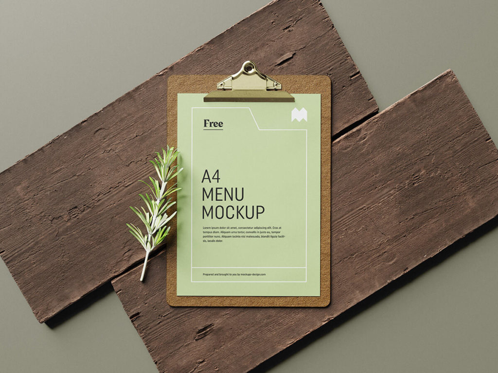 Free_Menu_Mockup Set
