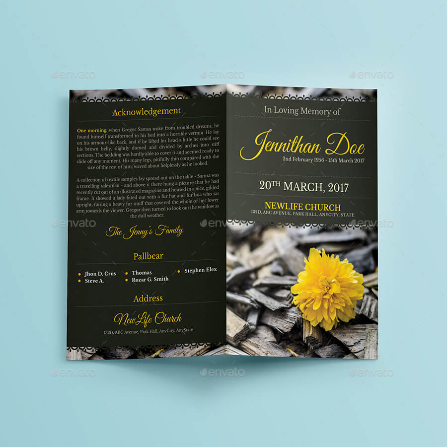 Funeral Program Brochure Template 6 (1)