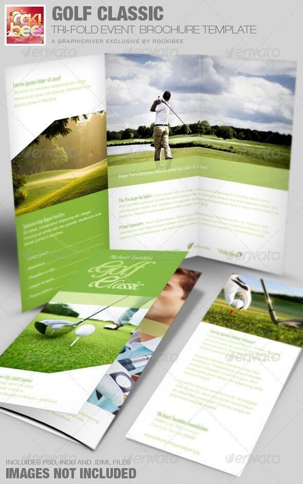 Golf Classic Event Tri-fold Brochure Template