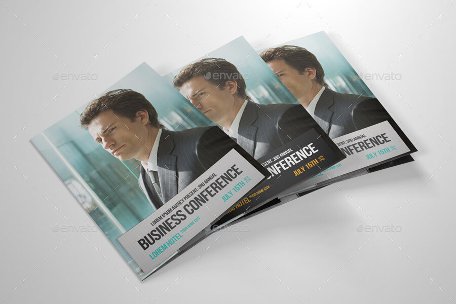 Half-fold Business Conference Brochure Template (1)