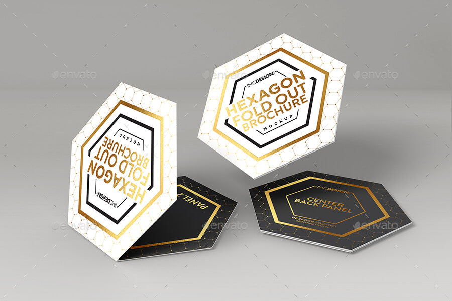 Hexagon Fold Out Style Brochure (1)