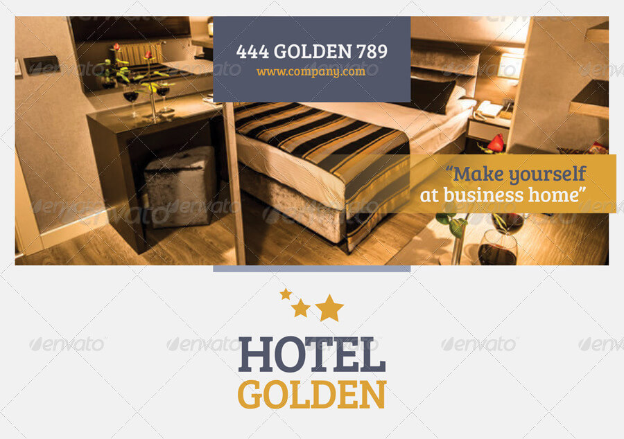 Hotel Golden Brochure Template