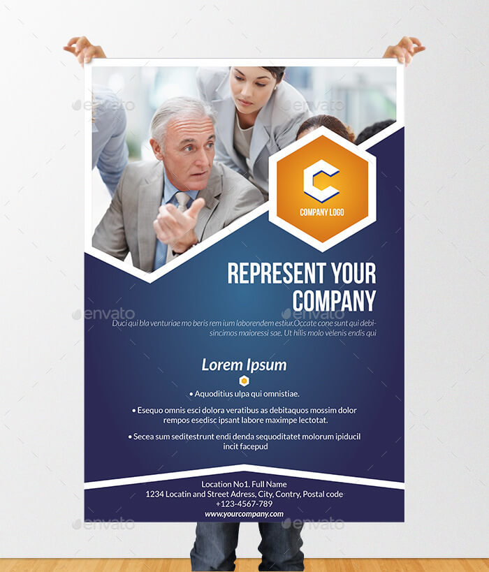 Informational Poster Brochure Template