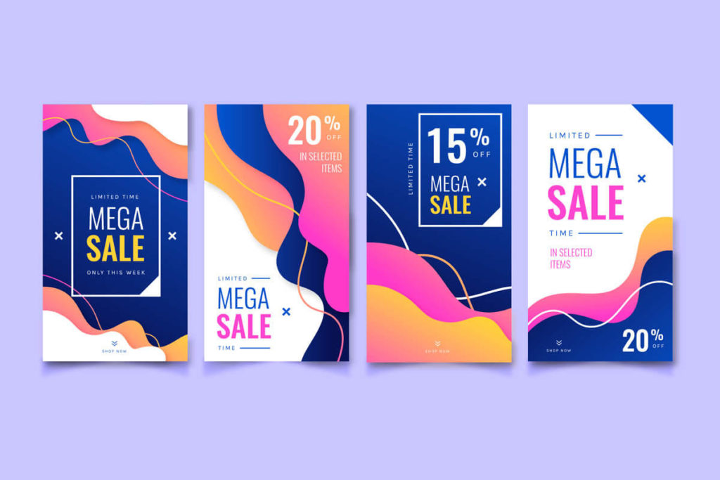 Free Realistic Instagram Stories Abstract Covers Templates