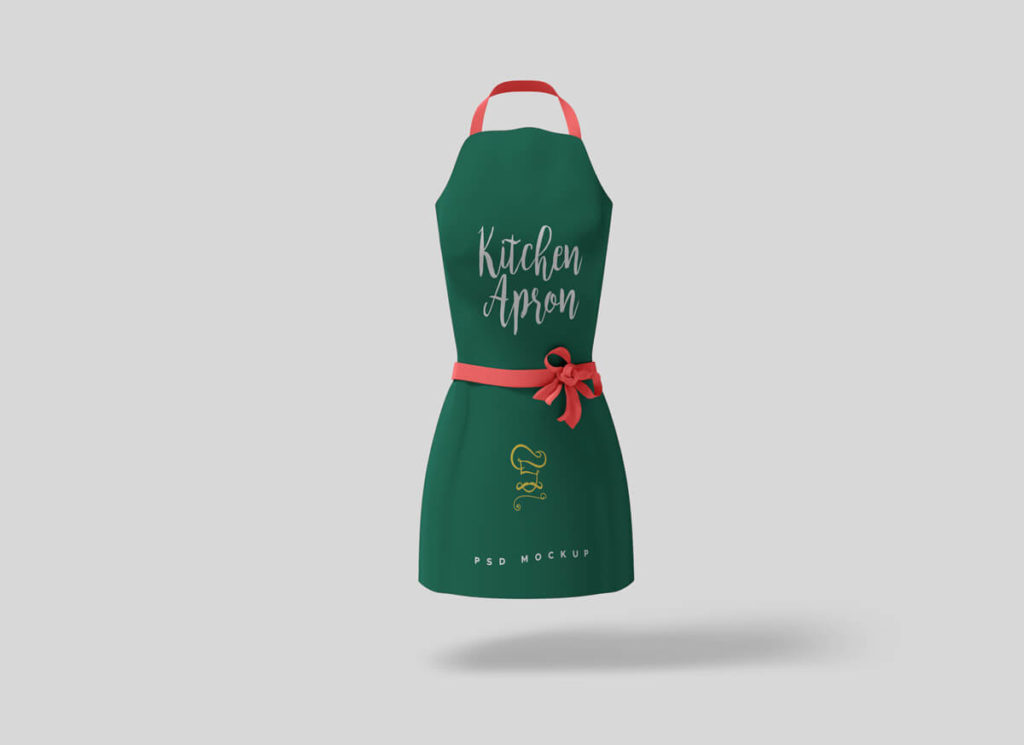 Free Beautiful Kitchen Apron Mockups
