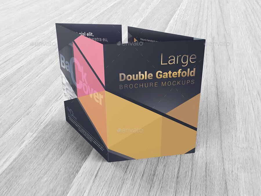 Large Double Gate Fold Brochure Mockups (1)