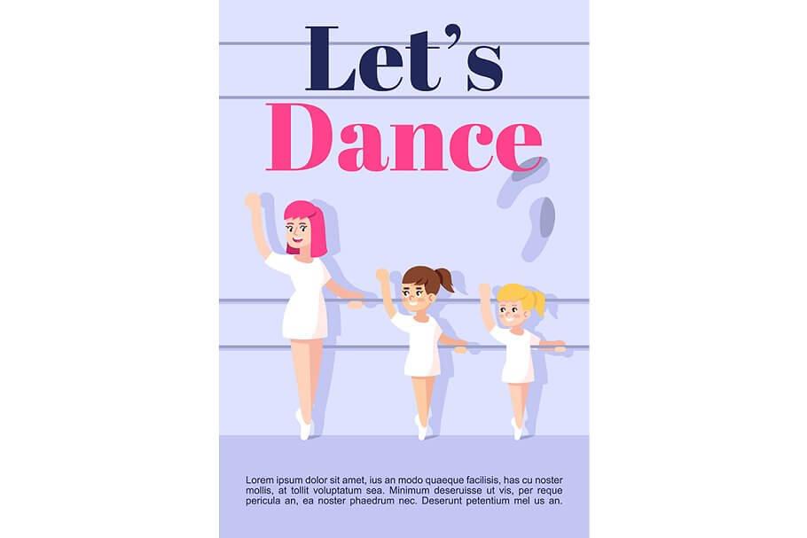 Lets dance brochure template