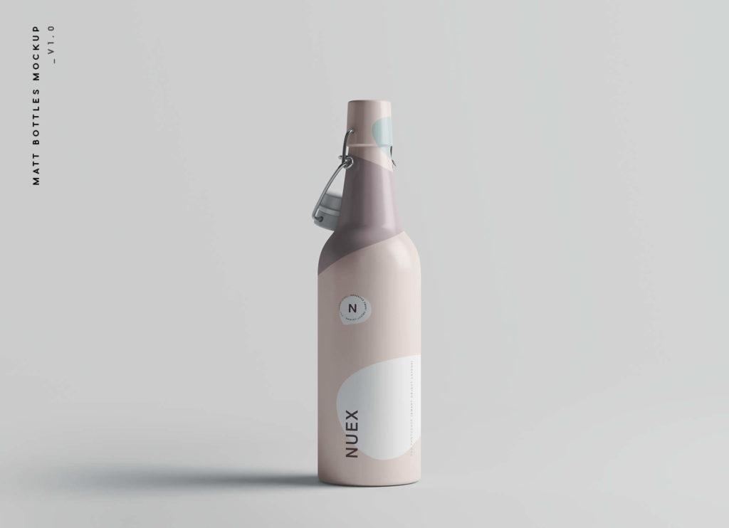 Free Stylish Matt Clamp Bottle Mockup PSD Template