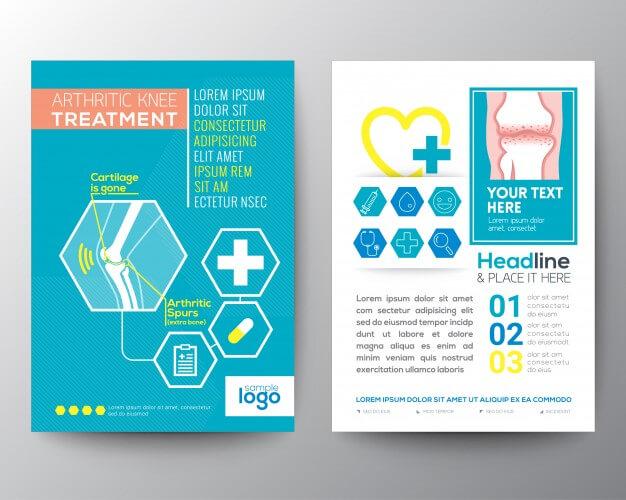 Medical brochure Free Vector
