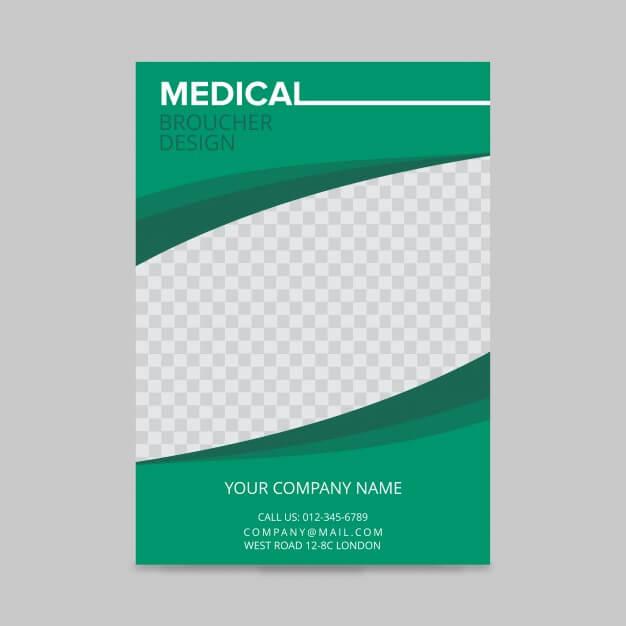 Medical brochure design Free Vector