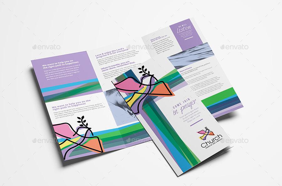 Modern Church Tri-Fold Brochure Template