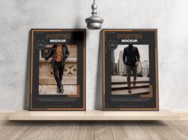 Modern Interior Framed Posters Mockup