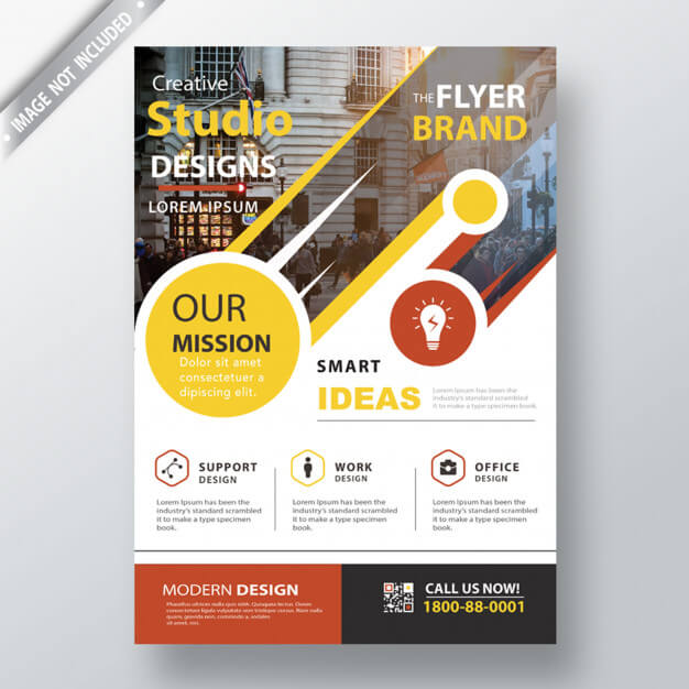 Modern leaflet template Free Psd (1)