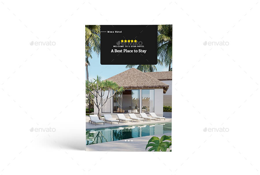 Moxa Hotel A4 Brochure Template